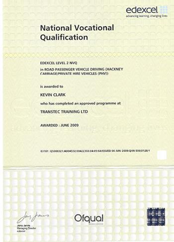 EasyChauffeur.com :: Our Certificates